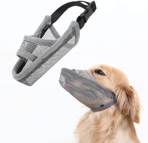 Crazy Felix Nylon Dog Muzzle For Small Medium Large Dogs, Air Mesh Breathable And Drinkable Pet Muz