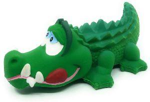Crocodile Sensory Squeaky Dog Toy Natural Rubber (latex) Lead Free Chemical Free Complies To Same Sa