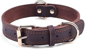 Daihaqiko Leather Dog Collar Genuine Leather
