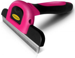 Dakpets Deshedding Brush Dog Hair & Cat Hair Shedding Tool Effective Grooming Tool For Cats Dogs Wit