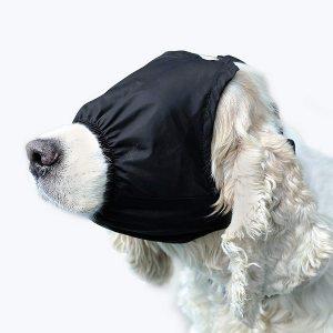 Delifur Dog Anxiety Muzzle Pet Calming Cap Eye Mask Nylon Shading For Grooming Anti Car Sickness