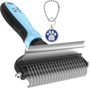 Dog Brush And Cat Brush – 2 Sided Pet Grooming Tool For Deshedding, Mats & Tangles Removing – No Mo