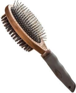 Dog Brush For Grooming, Double Sided Pin&bristle Brush Removing Shedding Hair, Dog Brush For Short M