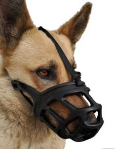 Dog Muzzle, Breathable Basket Muzzles For Small, Medium, Large And X Large Dogs, Stop Biting, Barkin