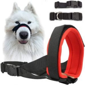 Dog Muzzle For Small Medium Large Dogs Stop Barking Biting And Chewing Breathable Adjustable Soft Pa