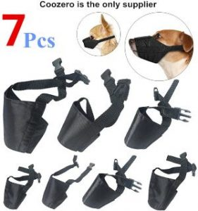 Dog Muzzles Suit, 7 Pcs Anti Biting Barking Pet Muzzles Adjustable Dog Muzzle Mouth Cover For Small