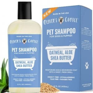 Dog Shampoo With Oatmeal And Aloe. Shea Butter For Smelly Dogs, Dry Itchy Skin, Puppy Shampoo, And