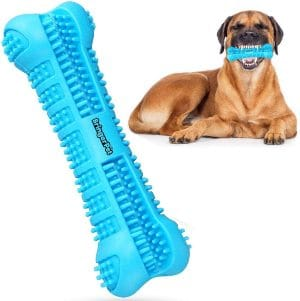 Dog Toothbrush With Toothpaste Reservoir Dog Toothbrush Chew Toy Stick For Dog Dental Care Safe,