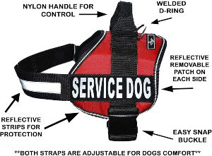 Doggie Stylz Service Dog Vest With Hook And Loop Straps And Handle 6 Sizes From Xxs To Xxl – 3 Col