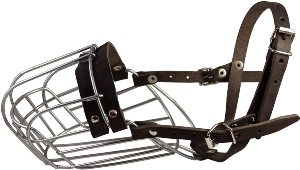 Dogs My Love Metal Wire Basket Dog Muzzle German Shepherd Male. Circumference 14 , Length 4.75