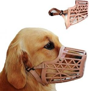 Downtown Pet Supply Basket Cage Dog Muzzles, Adjustable For Small, Medium And Large Dogs Great Fo