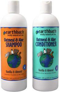 Earthbath Oatmeal & Aloe Shampoo Conditioner Bundle (vanilla & Almond) (1) 16 Oz Shampoo, (1) 1