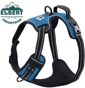 Elbert Mountain Dog Harness No Pull No Choke Adjustable Vest, Car Safety, Easy Control For Walking H
