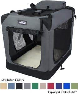 Elitefield 3 Door Folding Soft Dog Crate, Indoor & Outdoor Pet Home, Multiple Sizes And Colors