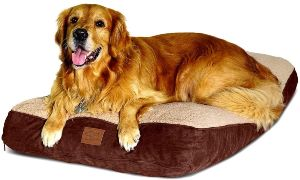 Floppy Dawg Large Dog Bed With Removable Cover And Waterproof Liner. Made For Big Dogs Up To 90 Poun