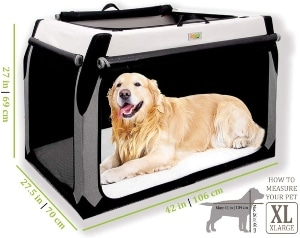Folding Soft Dog Crate For Xl Extra Large Dogs By Doggoods Indoor Outdoor Dog