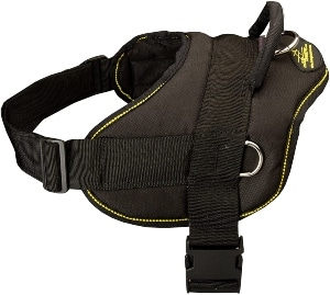 Fordogtrainers Bernese Mountain Dog Nylon Dog Harness Adjustable Lightweight For Pulling, Walking And Training