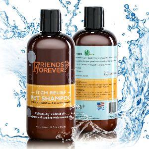 Friends Forever Natural Dog Shampoo Best Moisturizing Formula For Smelly Dogs, Shedding & Sensitive