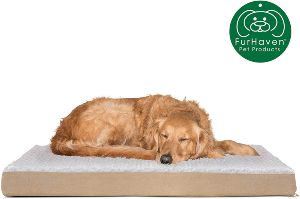 Furhaven Pet Dog Bed Deluxe Therapeutic Traditional Mat Rectangular Step On Foam Mattress Pet Bed