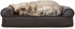 Furhaven Pet Dog Bed Therapeutic Sofa Style Traditional Living Room Couch Pet Bed W Removable Cov