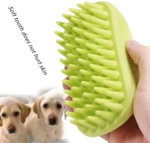 Glwad Pet Silicone Shampoo Brush, Anti Skid Rubber Dog Cat Pet Mouse Grooming Shower Bath Brush Mass