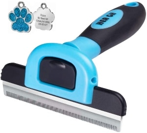 Hea Gh Deshedding Brush Pet Grooming Brush For Dog 4 Inches Wide Stainless Steel Safety Blade Drama