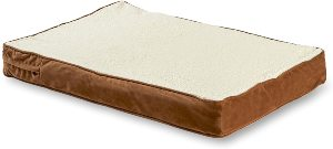 Happy Hounds Oscar Orthopedic Dog Bed, Medium 30 By 42 Inch, Birch, Latte