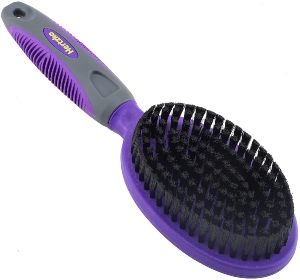 Hertzko Bristle Brush For Dogs And Cats With Long Or Short Hair Dense Bristles Remove Loose Hair,