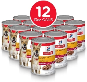 Hill's Science Diet Canned Wet Dog Food, Adult, 13 Oz Cans