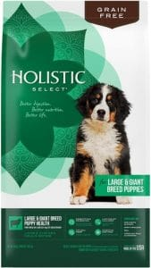 Holistic Select Natural Dry Dog Food Grain Free Large & Giant Breed Puppy Lamb & Chicken Meals