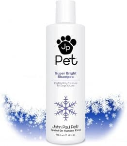 John Paul Pet Super Bright Shampoo For Dogs And Cats, Highlighting Formula Safely Whitens And Bright