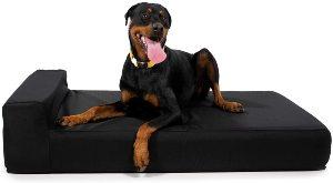 K9 Ballistics Giant 7 Bolster Orthopedic Dog Beds, Usa Made Certipur Us Foam, Double Cover, Rip Sto
