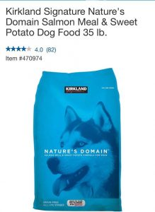 Kirkland Nature's Domain Grain Free All Life Stages Salmon Meal & Sweet Potato Formula For Dogs, 35