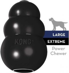 Kong Extreme Dog Toy Toughest Natural Rubber, Black Fun To Chew, Chase And Fetch