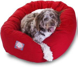 Majestic Pet Poly Cotton Sherpa Bagel Dog Bed