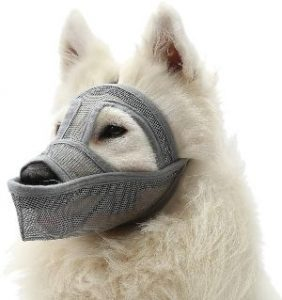Mayerzon Dog Muzzle, Breathable Mesh Muzzle For Small Medium Large Dogs, Prevents Barking, Biting An