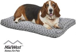 Midwest Homes For Pets Deluxe Super Plush Pet Beds, Machine Wash & Dryer Friendly, 1 Year Warranty