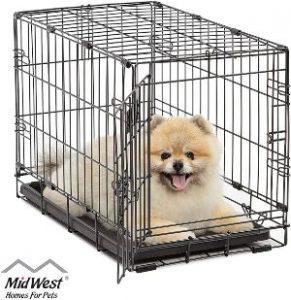 Midwest Homes For Pets Dog Crate Icrate Single Door & Double Door Folding Metal Dog Crates Full