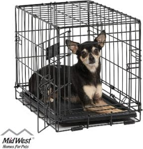 Midwest Homes For Pets Dog Crate Icrate Single Door & Double Door Folding Metal Dog Crates Full