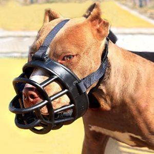 Moonpet Silicone Rubber Basket Dog Muzzle Anti Chewing Biting Barkingg Soft Adjustable Breathab