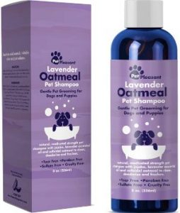 Natural Dog Shampoo With Colloidal Oatmeal Puppy Shampoo For Dog Bath With Lavender Essential Oil