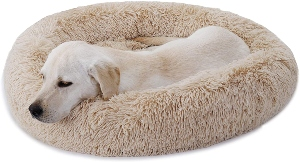 Nova Microdermabrasion Calming Ultra Soft Shag Faux Fur Dog Bed Comfortable