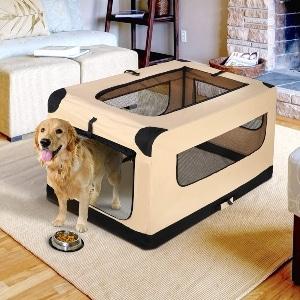 Nova Microdermabrasion Folding Soft Dog Crate