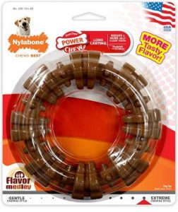 Nylabone Power Chew Textured Dog Chew Ring Toy Flavor Medley Flavor X Large Souper 50+ Lbs.