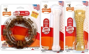 Nylabone Power Chew Toy Bundle Dog Toys For Aggressive Chewers Bacon Giant, White