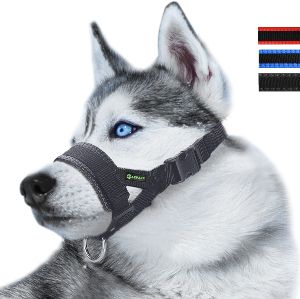 Nylon Dog Muzzle For Small,medium,large Dogs Prevent From Biting,barking And Chewing,adjustable Loop (1)