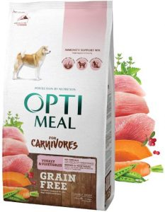 Optimeal Carnivores Grain Free Dry Dog Food For Adult Dogs Of All Breeds. High Protein Formula With