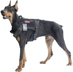 Onetigris Tactical Dog Harness Fire Watcher Comfortable Patrol K9 Vest