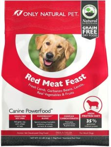 Only Natural Pet Dry Dog Food Canine Powerfood Formula Made In The Usa Paleo Inspired Formula Wit