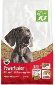 Only Natural Pet Powerfusion Raw Infused Grain Free Dog Food, High Protein All Natural Whole, Fresh Ingredients & 100% Raw Meat Bites